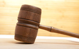 Old gavel Royalty Free Stock Image