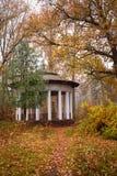 Old gazebo in the autumn park. Old gazebo with white columns, Alexandria Park, Bila Tserkva, Kiev region, Ukraine stock photos