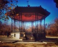 Old Gazebo. Cristal Palace of Madrid surroundings Royalty Free Stock Photos