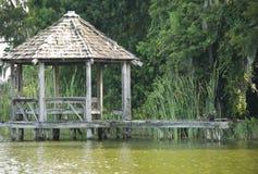 Old gazebo in river in Florida. Old Gazebo in Florida canal Stock Images