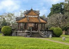 Old Gazebo in the garden of the Forbidden city , Imperial City inside the Citadel, Hue, Vietnam. Pictured is an old Gazebo in the garden of the forbidden city royalty free stock images