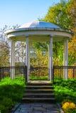 old gazebo in the park stock photo