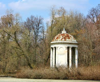 Old gazebo in  the spring forest Royalty Free Stock Images