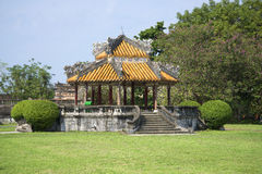 The old gazebo on the territory of the Forbidden city. Hue Stock Images