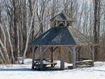 Old gazebo in winter, Chatham, NY Stock Images