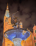 Old Gdansk by night Stock Image