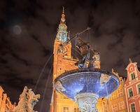Old Gdansk by night Royalty Free Stock Images