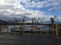 Old Gdansk Shipyard, Poland royalty free stock photo