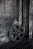 Old gear. Left in abandoned factory Stock Photo