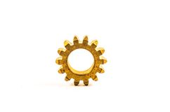Old gear brass Royalty Free Stock Photos