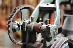 old gear in machine part to transmission of moving Stock Photography