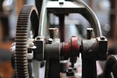 old gear in machine part to transmission of moving Royalty Free Stock Photo