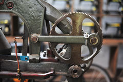 old gear in machine part to transmission of moving Royalty Free Stock Image