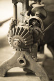 An old gear machine in Thompson`s Mill, Shedd, Oregon. Stock Photo