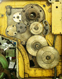 Old gear of lathe machine Royalty Free Stock Images