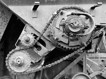 Old gear transmission Stock Image