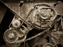 Old gear transmission Royalty Free Stock Images