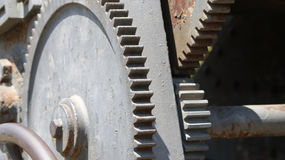 Old geared mechanism Royalty Free Stock Photography