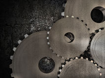 Old Gears Background Stock Photo