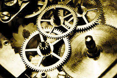 Old gears and cogs. Macro photograph of a grungy set of wheels and cogs Stock Photo