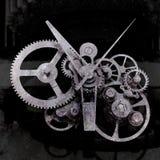 Old gears. Dark grunge background Stock Image