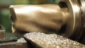 Old geen  milling machine, closeup, metalworking stock footage