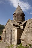 Old Geghard monastyr. Old beauty UNESCO object Geghard monastyr - Armenia. Summer day Royalty Free Stock Photos