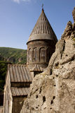 Old Geghard monastyr - Armenia. Old UNESCO object Geghard monastyr - Armenia summer day Stock Photography