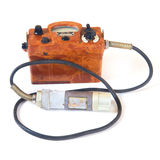 Old geiger counter stock image