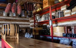 The Old General Store. Interior of restored general store on display at Fort Wilkins State Park.  Copper Harbor, Michigan Stock Images