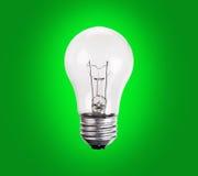 Old generation Light Bulb on green Stock Image