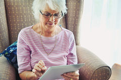Old generation new technology Royalty Free Stock Images