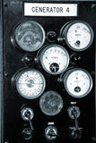 Old Generator Dials Stock Photo