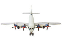 Old generic commercial airplane model isolated on white Stock Photography