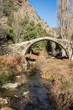 Old Genoese bridge in the Tartagine valley in Corsica Royalty Free Stock Image