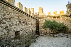 Genoese fortress in the city of Sudak Stock Photography