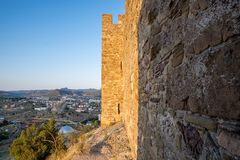 Genoese fortress in the city of Sudak Stock Photo