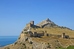 Old Genoese fortress in Sudak Royalty Free Stock Photos
