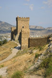 Old Genoese fortress XI century in Sudak. Crimea. Ukraine Royalty Free Stock Photography