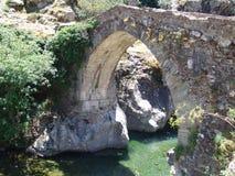 Old genovese bridge stock image