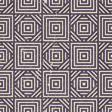 Old geometric seamless pattern, vintage vector repeat background Stock Photos