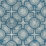 Old geometric seamless pattern, vintage vector repeat background Royalty Free Stock Image