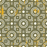 Old geometric seamless pattern, vintage vector repeat background Royalty Free Stock Images