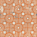 Old geometric seamless pattern, vintage vector repeat background Stock Image