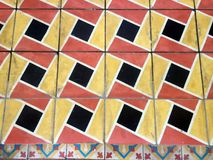 Old geometric tiles Royalty Free Stock Images