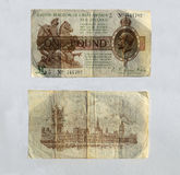 Old George Fifth UK One pound notes Stock Images