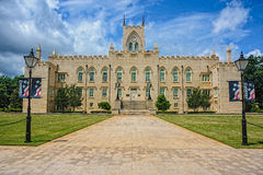 Old Georgia State Capital in Milledgeville, Georgia. This Gothic Revival brick building was a parallelogram, with walls four feet thick and the Georgia state Royalty Free Stock Image