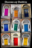Old Georgian Doors of Dublin Royalty Free Stock Photography