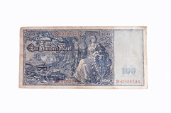 Old German bank note. A 1908 German 100 Mark bank note Stock Photo