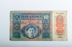 Old German banknotes, money. Background, all real money Stock Photography